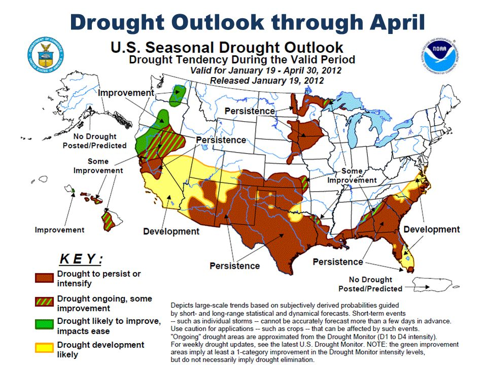 Drought Outlook through April