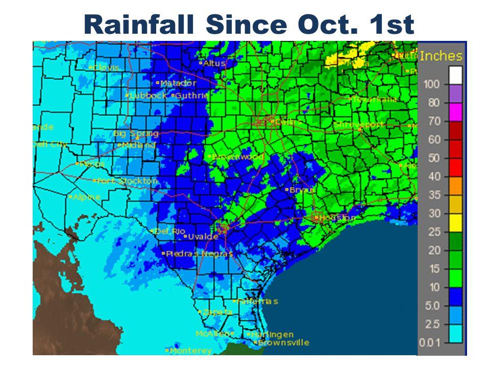 Rainfall Since Oct. 1st