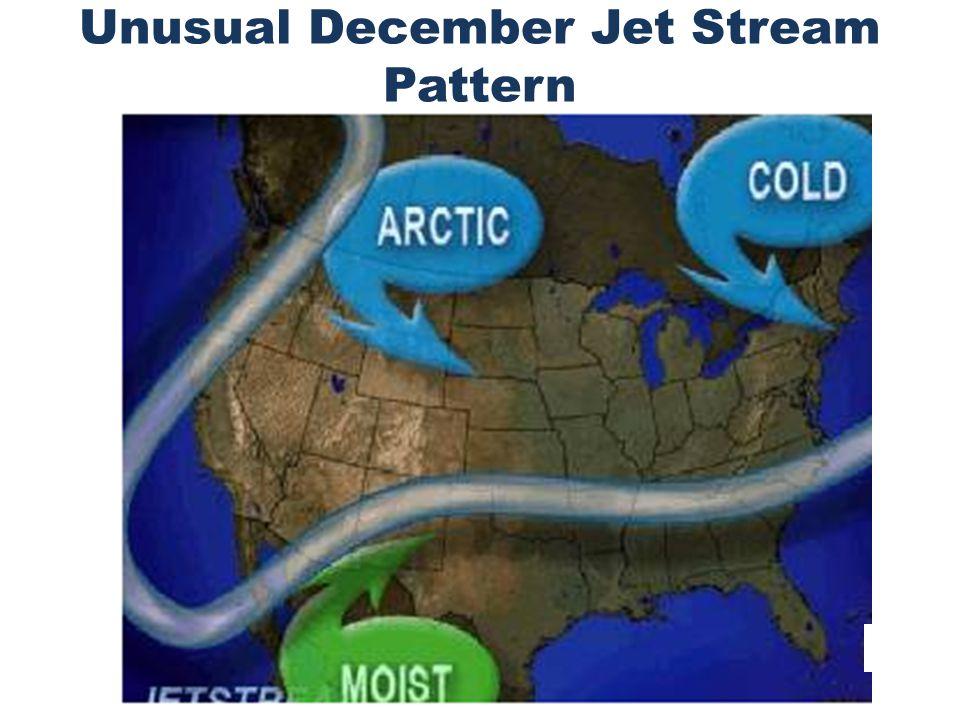 Unusual December Jet Stream Pattern