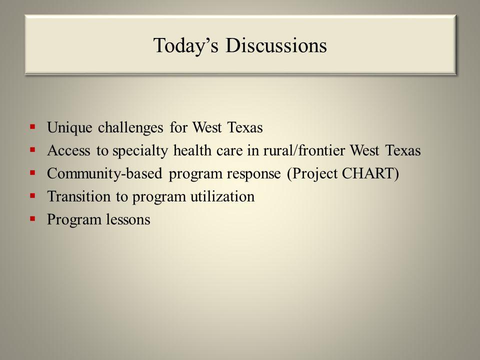 Texas Tech University Health Sciences Center (TTUHSC) Service Area