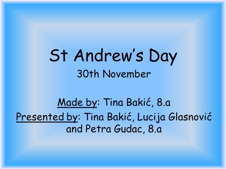 St Andrew's Day.
