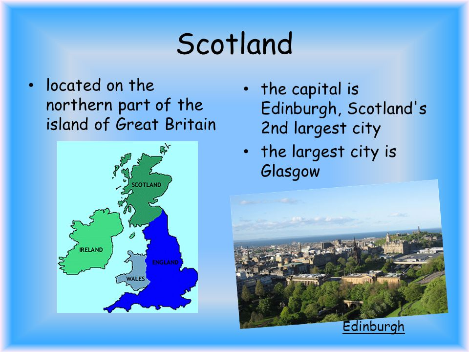 Scotland it is comprised of 790 islands which include the Northern Islands and the Hebrides population of Scotland is over 5 million people Scottish Islands
