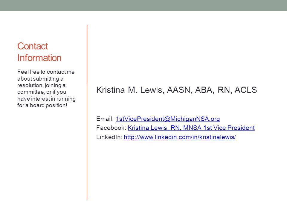 Contact Information Kristina M.