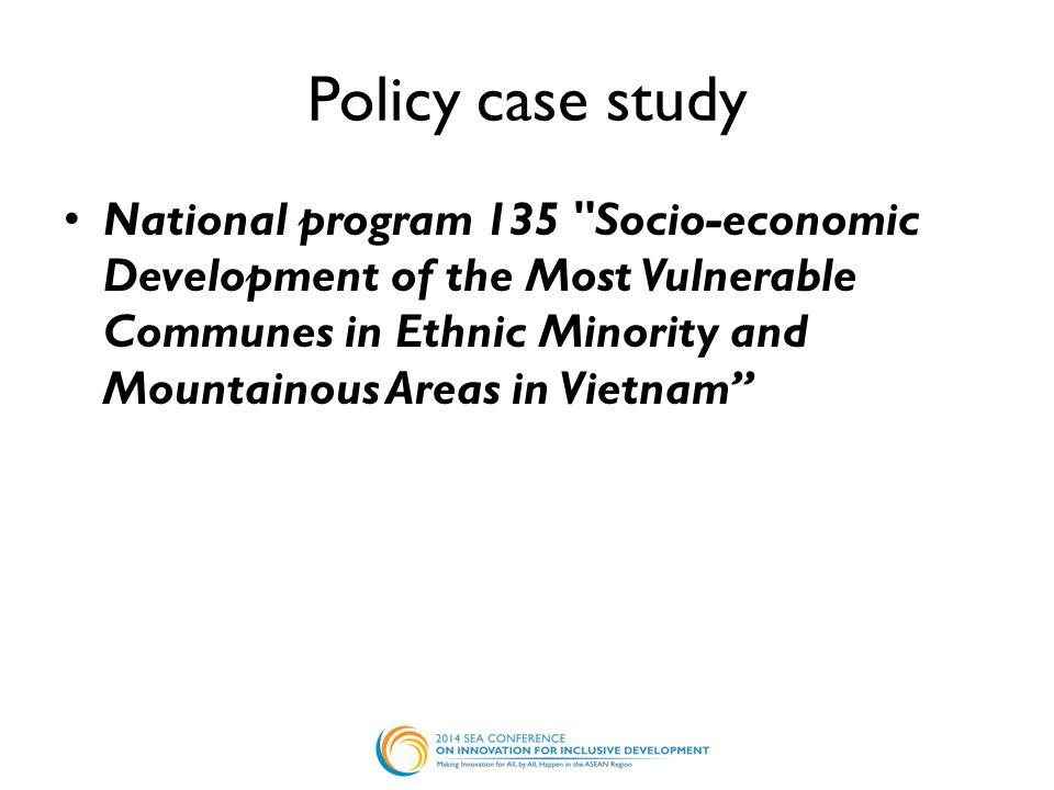 Policy case study National program 135