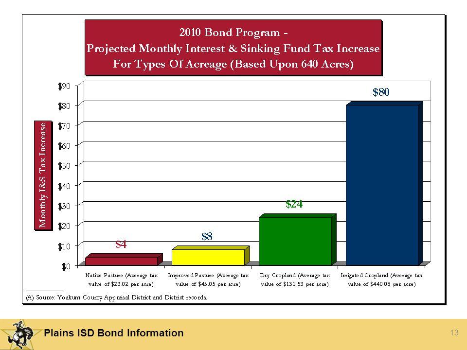 13 Plains ISD Bond Information