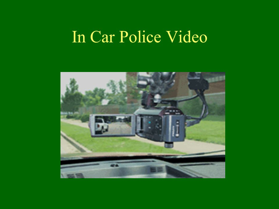 In Car Police Video