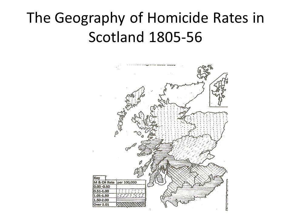 Scottish homicide rates 1805-1896