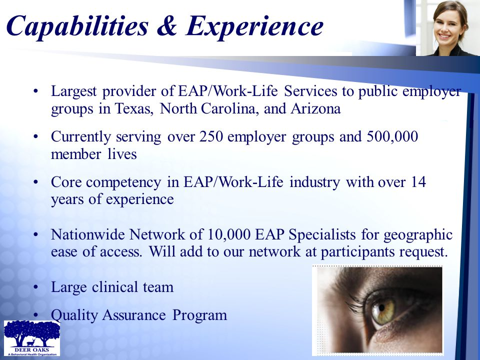 The MISSION Program Through this program, the Mission of the EAP and the Mission of the HR Department are intertwined.
