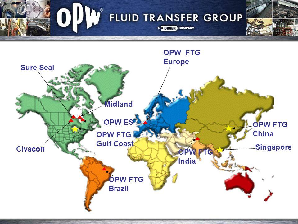 Midland OPW ES Sure Seal OPW FTG Europe OPW FTG Gulf Coast OPW FTG Brazil OPW FTG India OPW FTG China Singapore Civacon