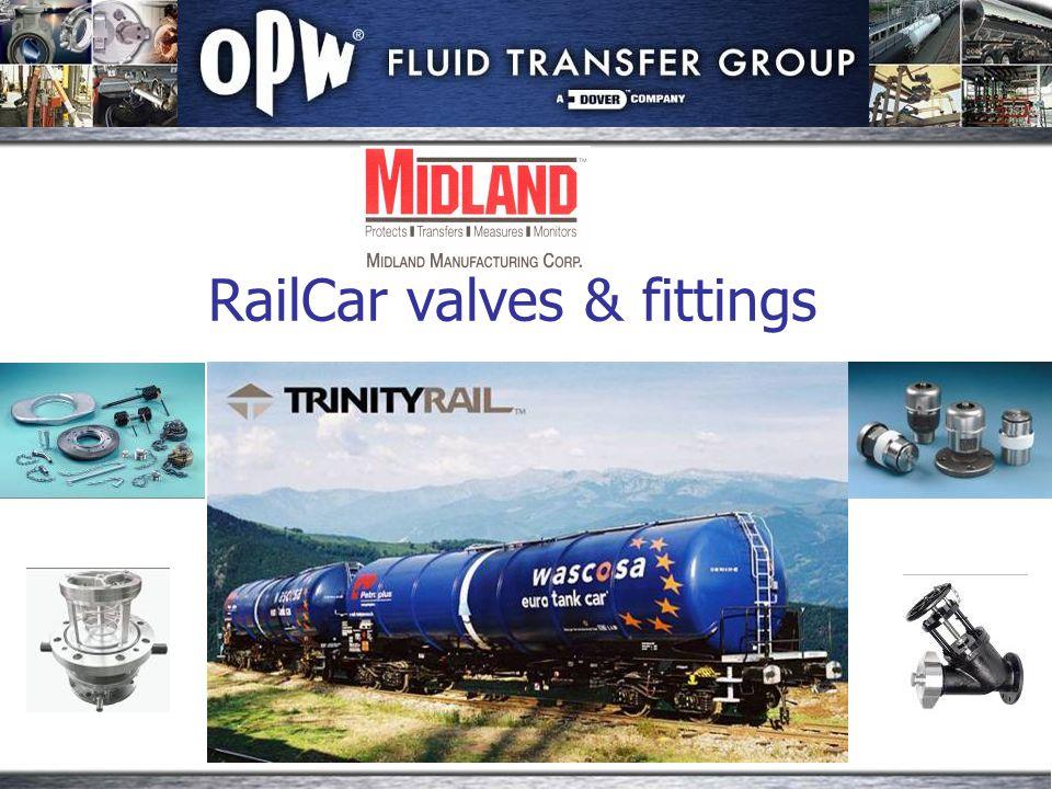 RailCar valves & fittings
