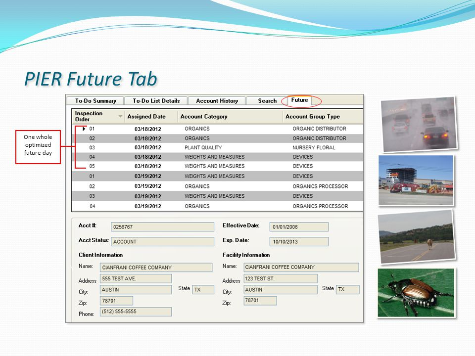 PIER Future Tab One whole optimized future day