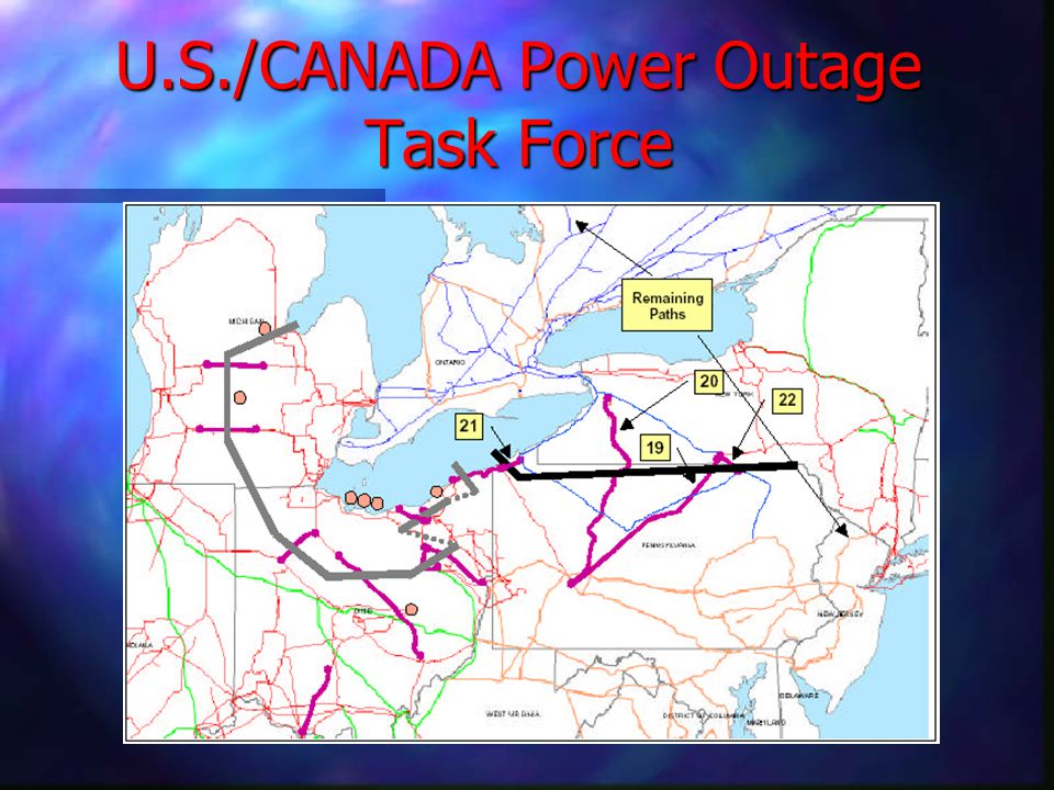 U.S./CANADA Power Outage Task Force