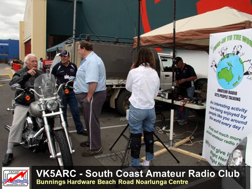 VK3WI – Amateur Radio Victoria - Williamstown WIA poster attracts the attention of firies