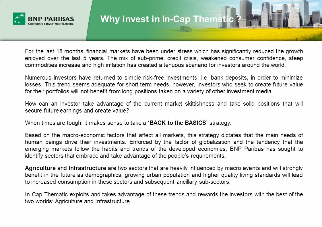 Why invest in In-Cap Thematic .