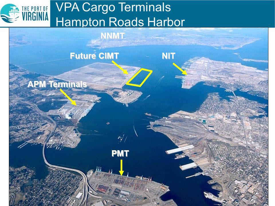VPA Cargo Terminals Hampton Roads HarborNIT NNMT Future CIMT PMT APM Terminals
