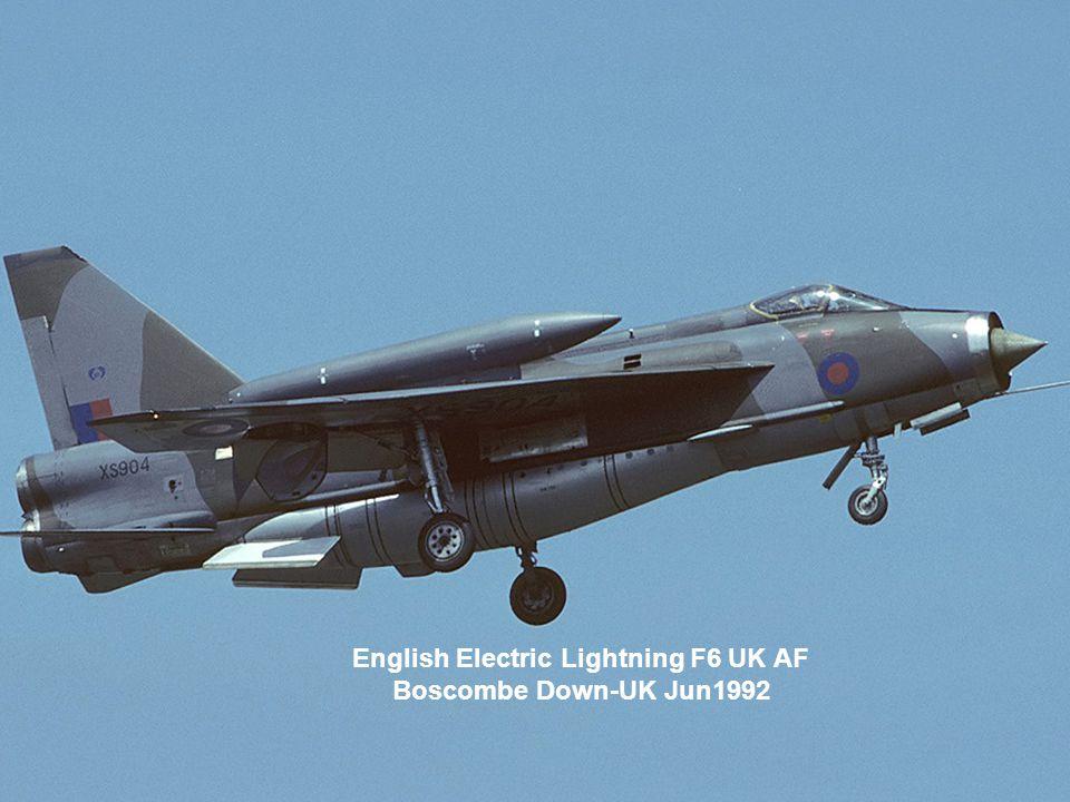 English Electric Lightning F6 UK AF Boscombe Down-UK Jun1992