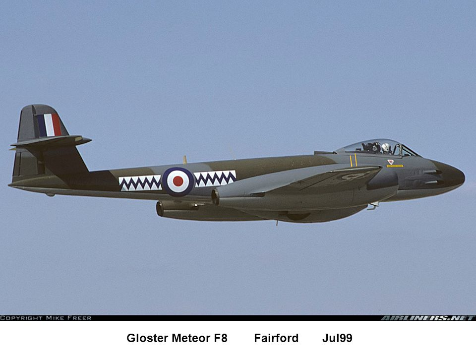 Gloster Meteor F8 Fairford Jul99
