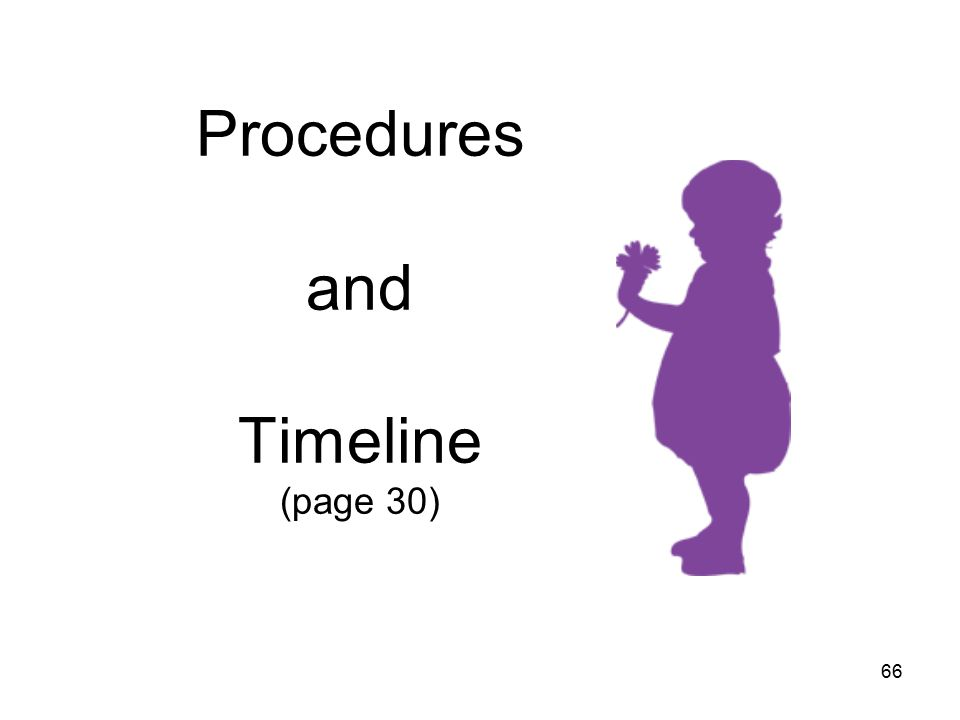 66 Procedures and Timeline (page 30)