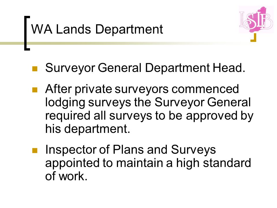 Skills to acquire as a Licensed Surveyor Tenure choices Subdivision design options Survey of lands under Deeds Act Adverse Possession Conversion of Old System to TLA 3D land parcels Riparian boundaries