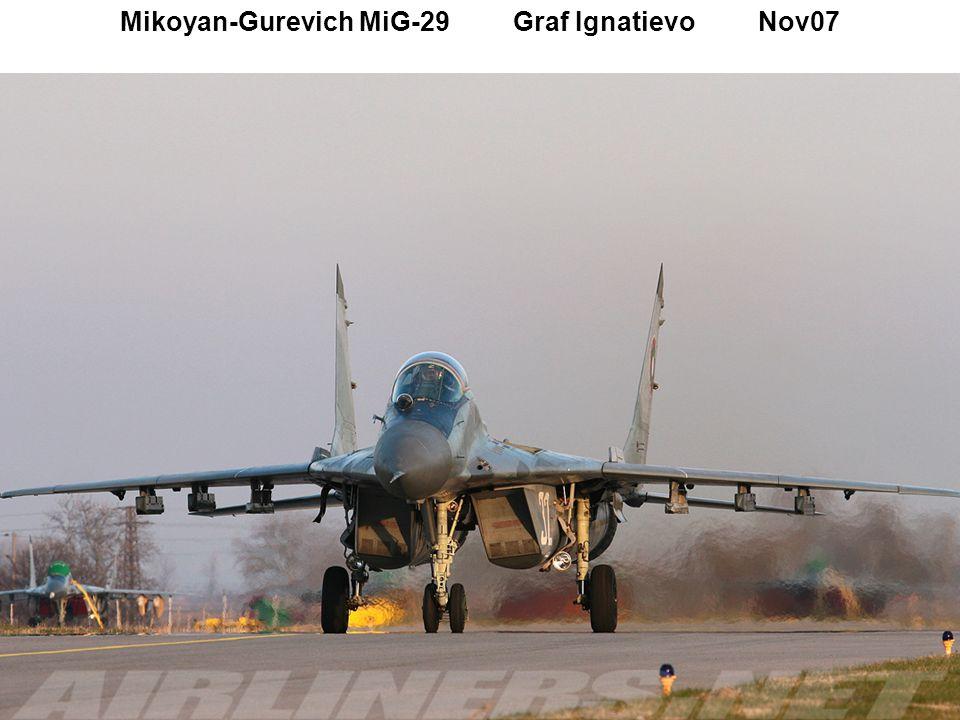 Mikoyan-Gurevich MiG-29 Graf Ignatievo Nov07