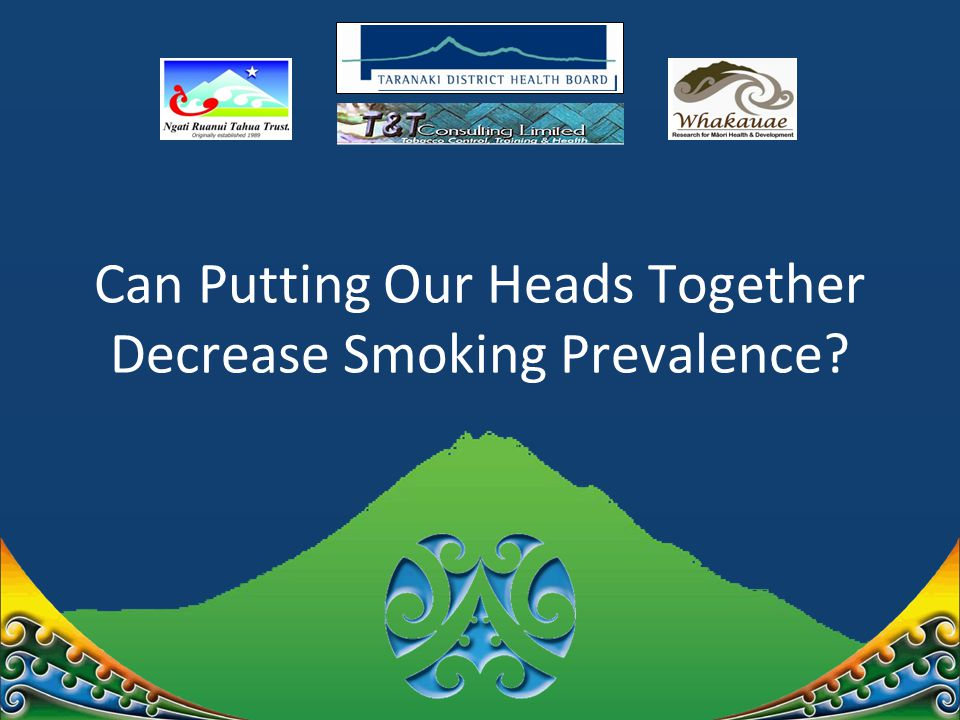 Can Putting Our Heads Together Decrease Smoking Prevalence?