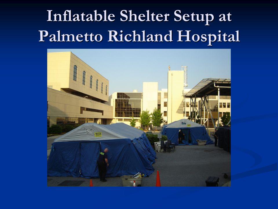 Inflatable Shelter Setup at Palmetto Richland Hospital