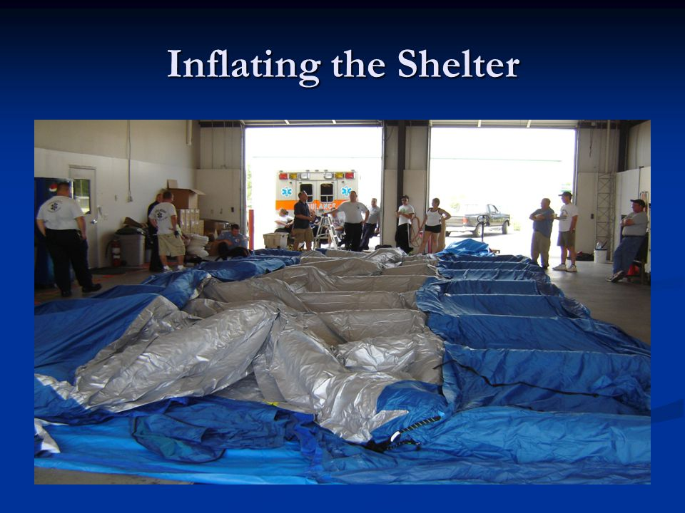 Inflating the Shelter