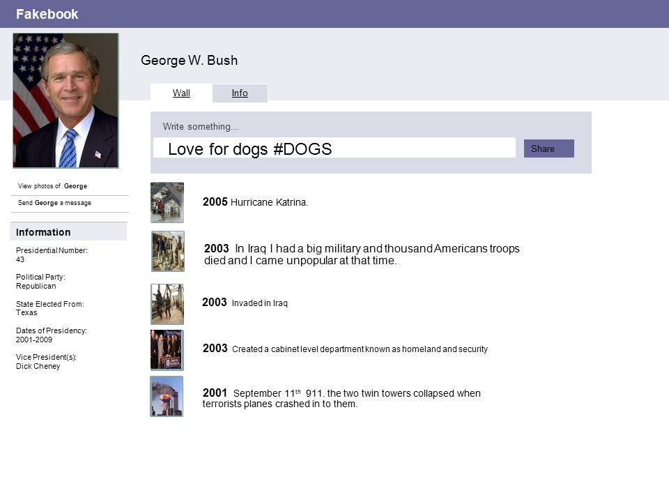 Fakebook George W.