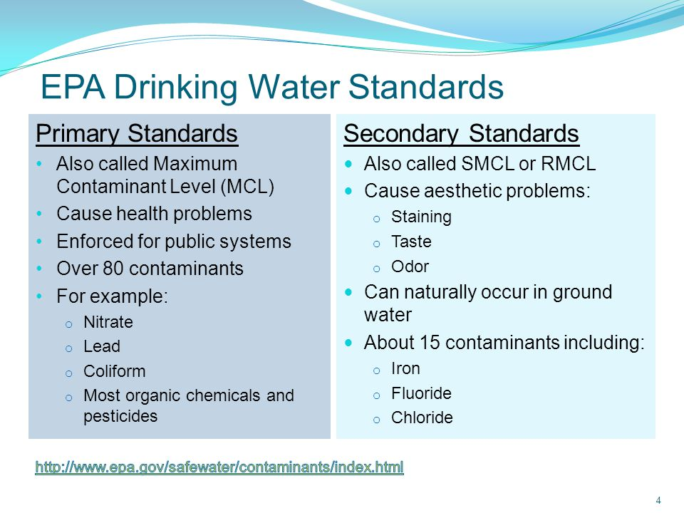 Fluoride Occurs naturally in varying levels Naturally high levels of F in E.