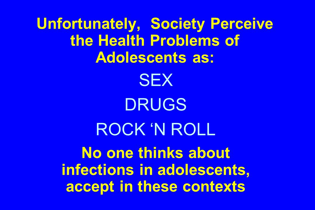 What puts adolescents at risk of inctions and infectious diseases.