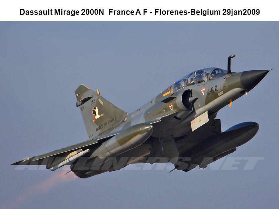 Dassault Mirage 2000N France A F - Florenes-Belgium 29jan2009