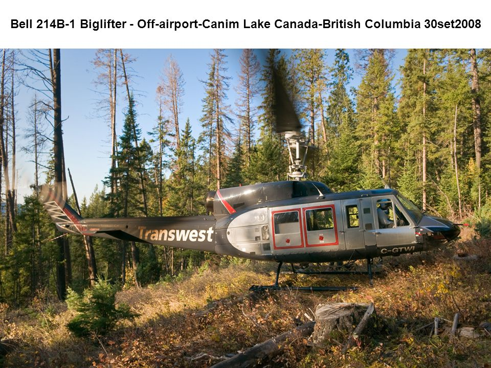 Bell 214B-1 Biglifter - Off-airport-Canim Lake Canada-British Columbia 30set2008