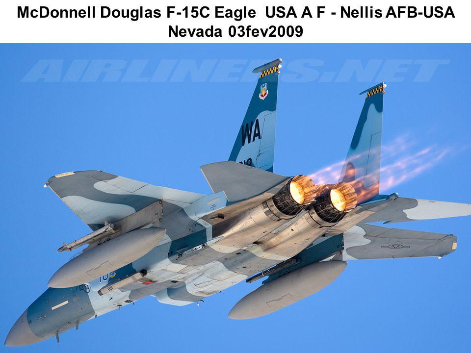 McDonnell Douglas F-15C Eagle USA A F - Nellis AFB-USA Nevada 03fev2009