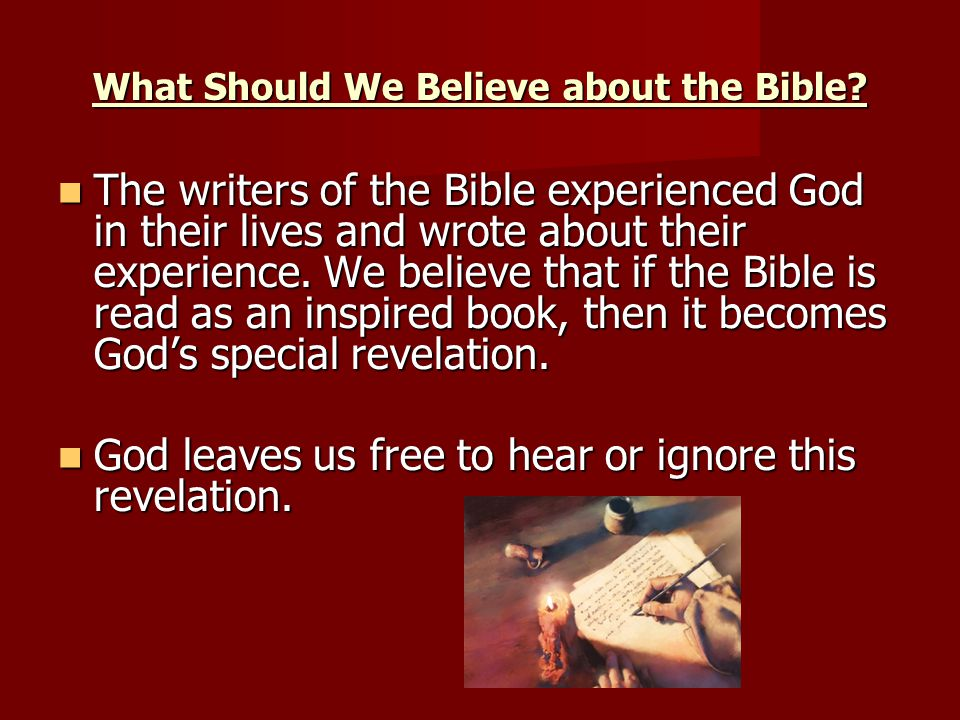 What Should We Believe about the Bible.