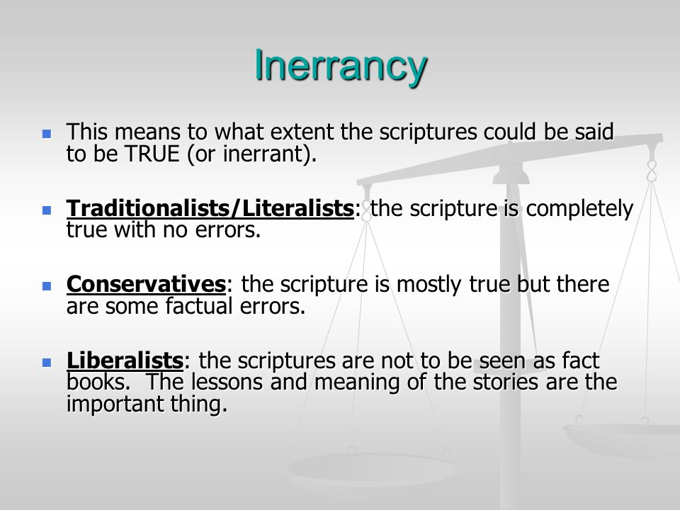 Christian Scripture Some Christians believe that the scriptures (OT & NT) were sent directly from God to those who wrote them down.