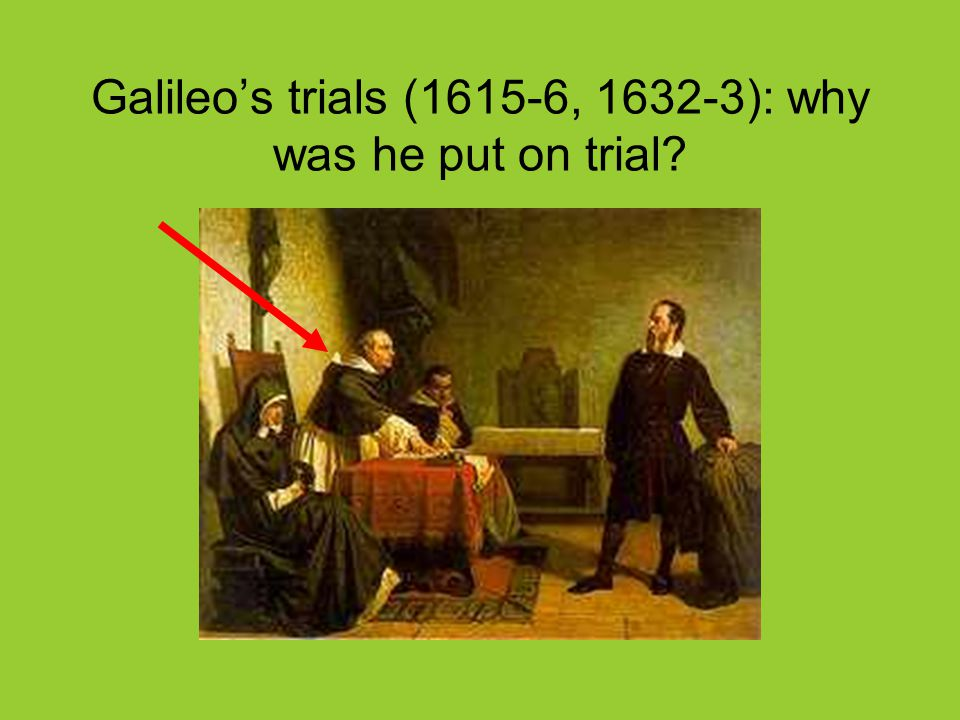Galileo's trials (1615-6, 1632-3): why was he put on trial