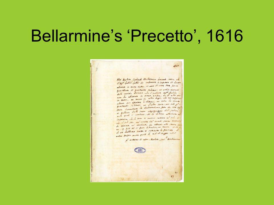 Bellarmine's 'Precetto', 1616