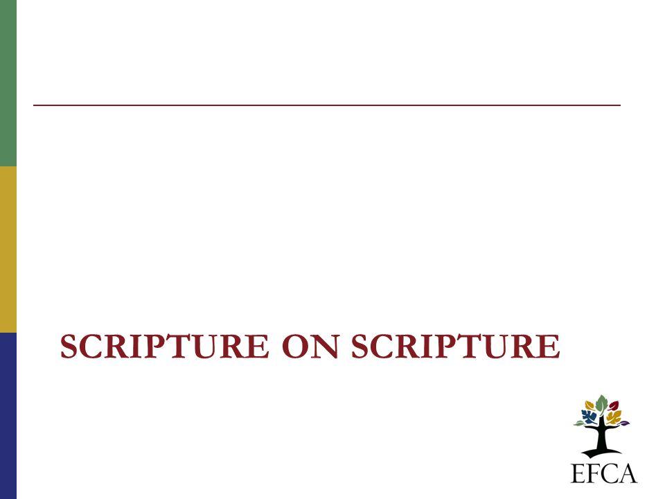 SCRIPTURE ON SCRIPTURE