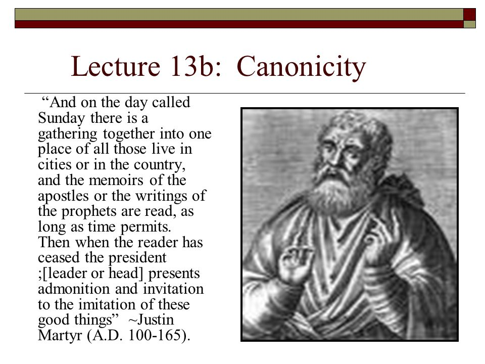 II.Canonicity of the Old Testament: G.There is evidence of the manner whereby the O.T.