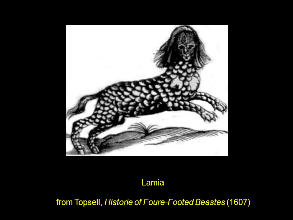 Lamia from Topsell, Historie of Foure-Footed Beastes (1607)