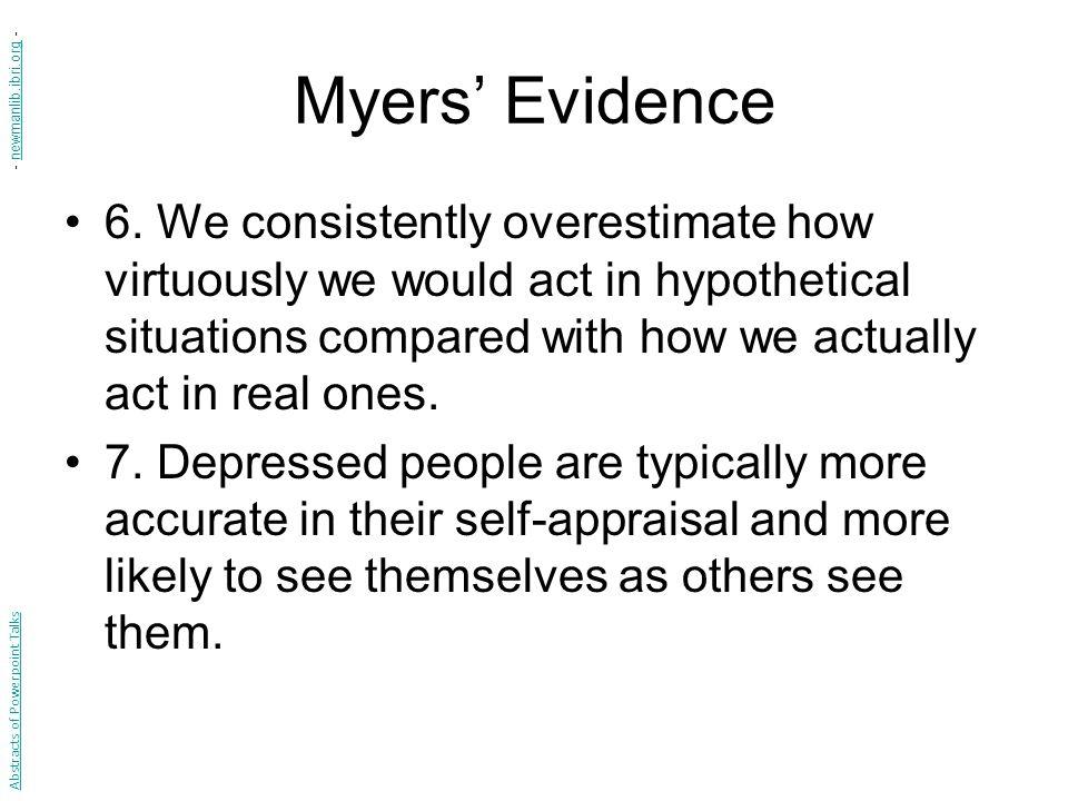 Myers' Evidence 6.