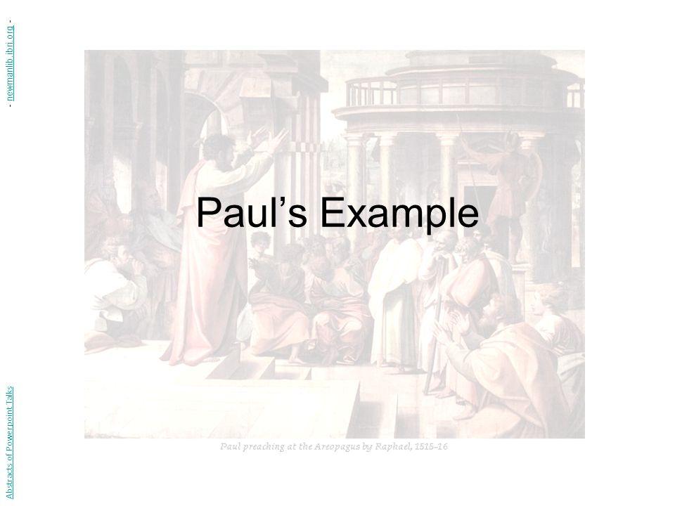 Paul's Example Abstracts of Powerpoint Talks - newmanlib.ibri.org -newmanlib.ibri.org