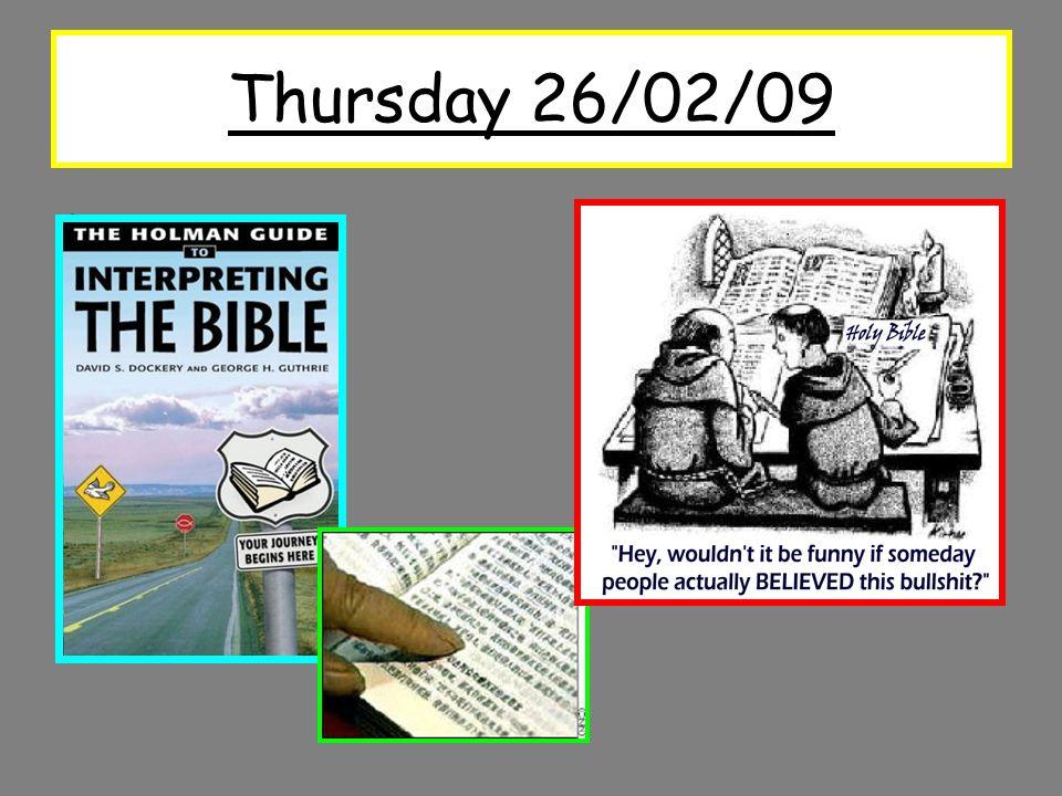 Thursday 26/02/09