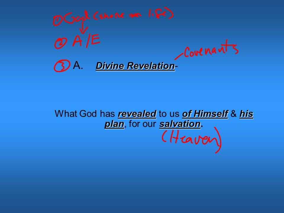 I. Divine Revelation