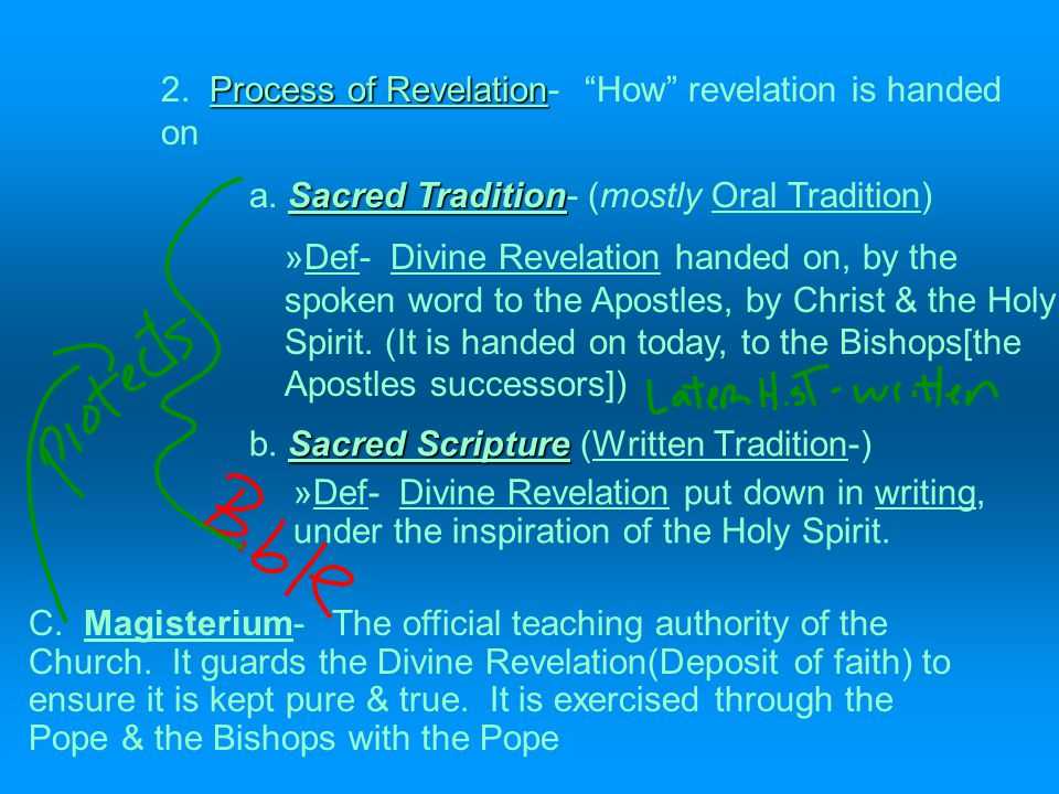 Revelation B.There are two senses of Revelation. Content of Revelation 1.