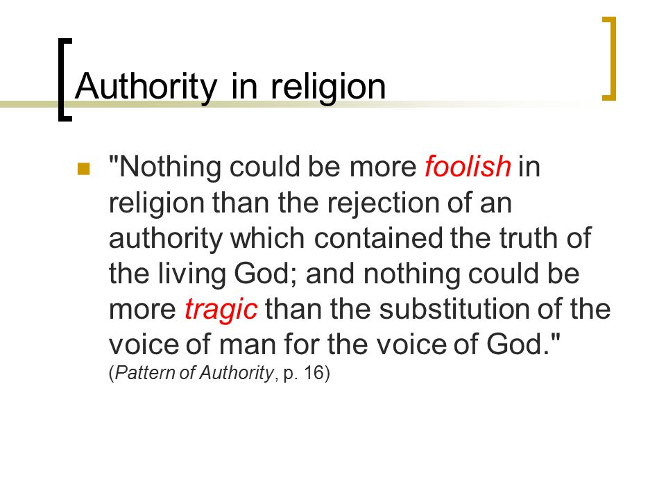 So what about her authority.