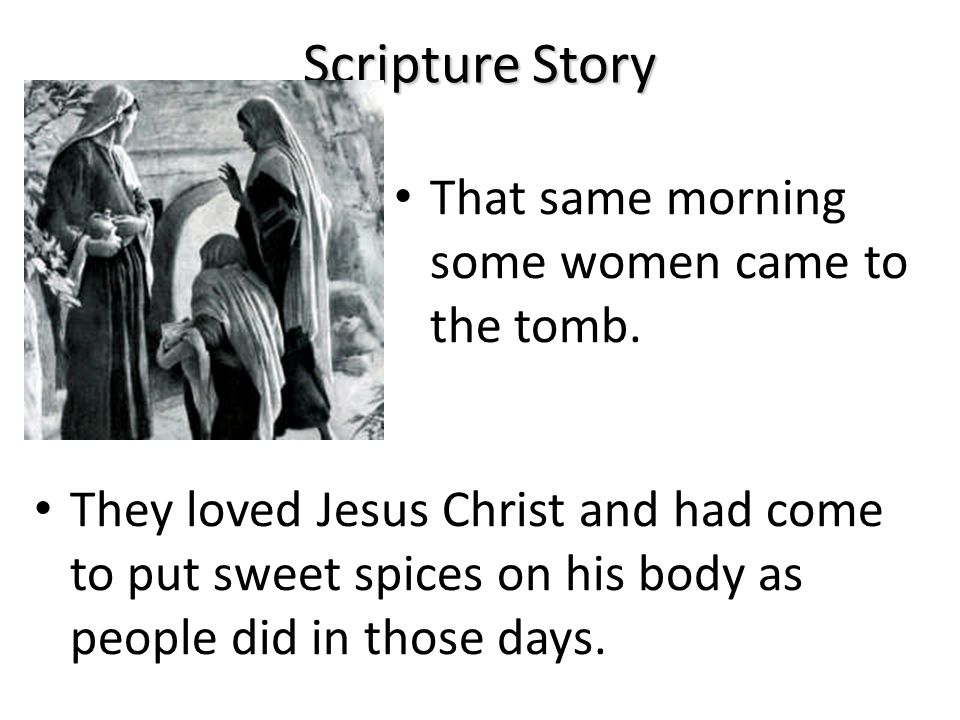 Scripture Story As soon as they could, they ran away.