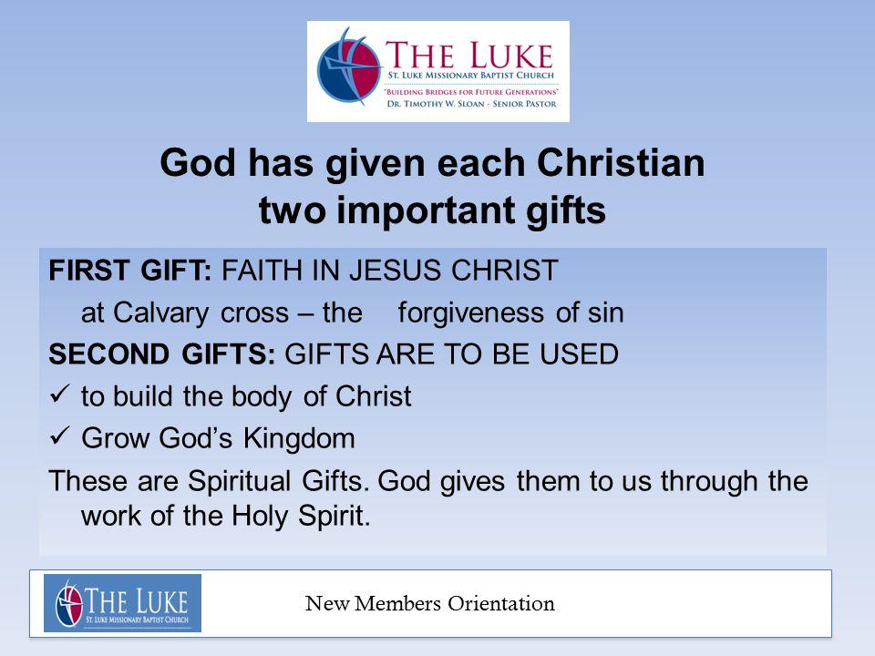 New Members Orientation Class 3: SERVE Spiritual Gifts 13