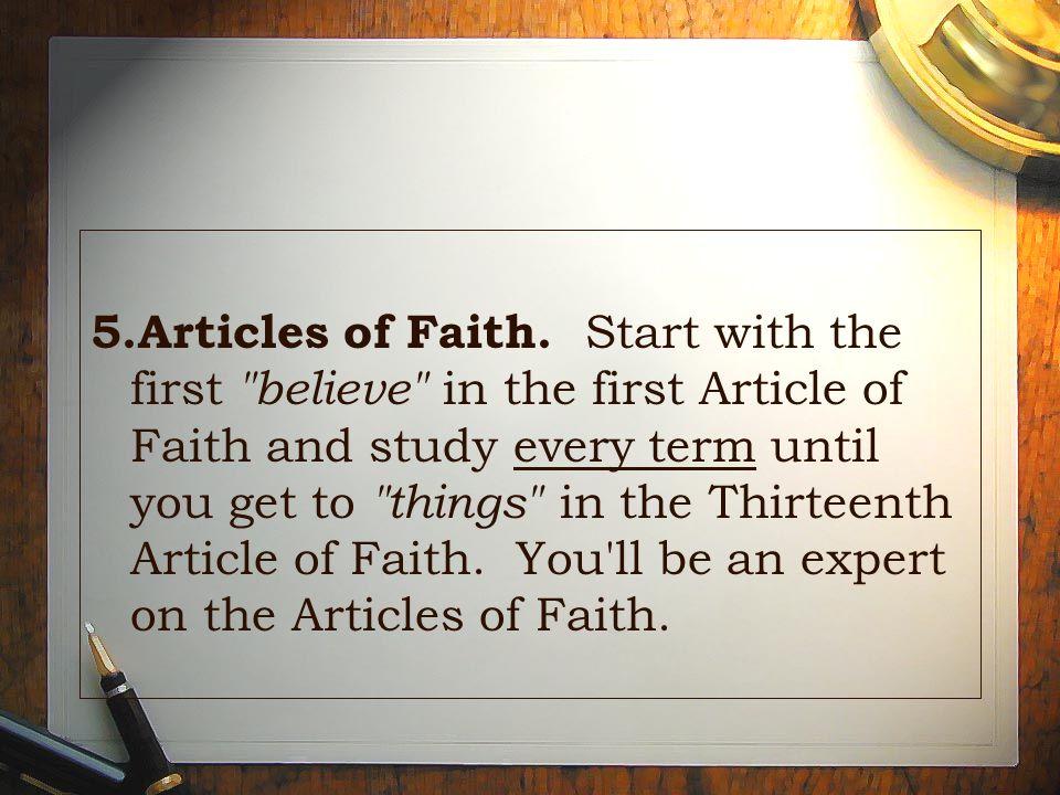 5.Articles of Faith.