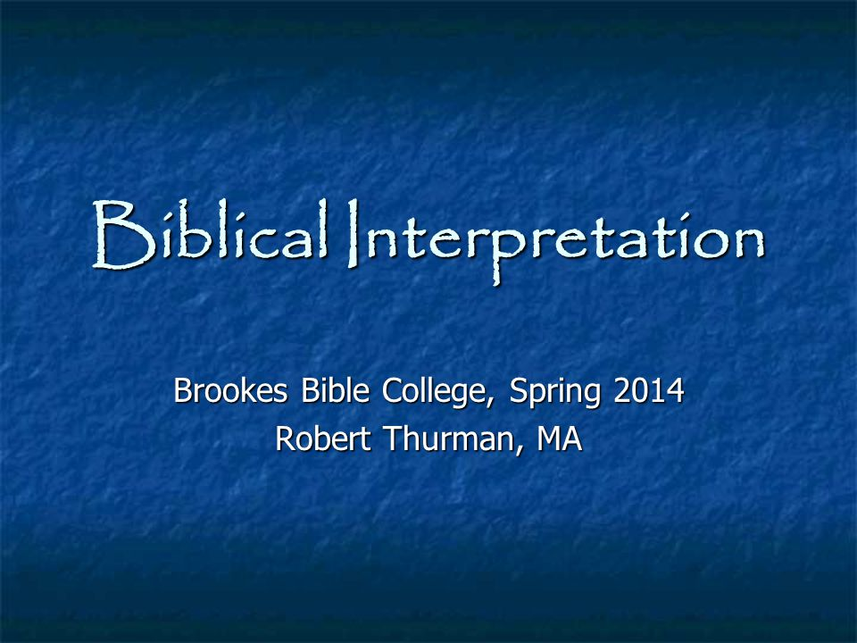 Inspiration of Scripture Let ' s look at what the Bible says about inspiration...